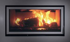 Fireplace inserts on pinterest electric fireplace insert gas fireplace ins - Cheminee feu de bois insert ...