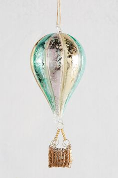 Hot Air Balloon Ornament   Pinned by topista.com