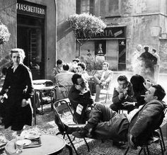 lounging, rome, 1950s