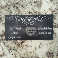20 Chalkboard Wedding Scratch Off Tickets by msmemories101 on Etsy