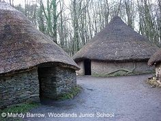 The Celts would light a fire in the middle of the roundhouse for ...