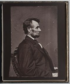 Magnificent profile portrait of President Lincoln from the Brady Studio.  *s*