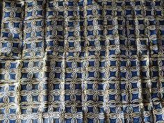 Blue hand dyed fabric Adire fabric from Nigeria by Shopafrican