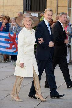 Archduchess Anna-Gabriele and grandson Prince Dimitr
