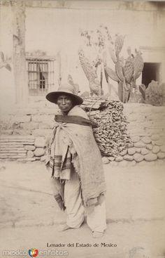 Fotos de Toluca, México, México: Lenador  Tipicos Mexiquenses Circa 1900