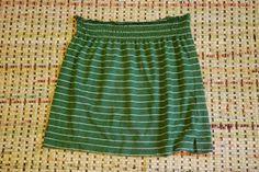 Easy Skirt Tutorial - t-shirt skirt