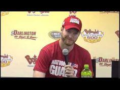 4-11-14 Dale Earnhardt Jr Darlington Raceway Interview NASCAR Video