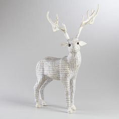 One of my favorite discoveries at WorldMarket.com: White Canvas Standing Reindeer
