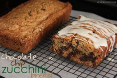 Cookies and Cups Chocolate Chip Zucchini Bread