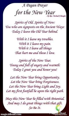 For the New Year