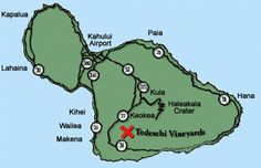 Directions & Map to Maui Wines in the upcountry Maui area.  #Hawaii #weddings #sites  Marie Glodt Travel to Maui http://www.traveltomaui.net