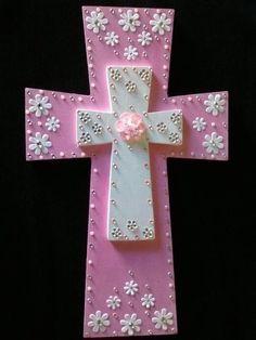 Painted Wooden Crosses, Wood Crosses, Decorative Crosses, Hand Painted, Wooden Cross Crafts, Cross Wreath, Sign Of The Cross, Mosaic Crosses, Cross Art