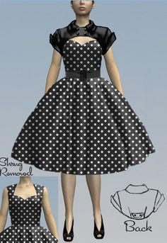 d17812e136a6a Retro Dress and Shrug Set by Amber Middaugh. Pamela FitzPatrick · Chic Star.