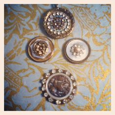 1800 antique button pendants. These will go well with fall colors!