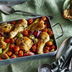 Collect this Spanish Paprika Chicken with Truss Tomatoes, Red Onions and Olives recipe by Lilydale. MYFOODBOOK.COM.AU | MAKE FREE COOKBOOKS