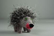 Knitted toy Hedgehog handmade interior decor ideas children's gift ideas