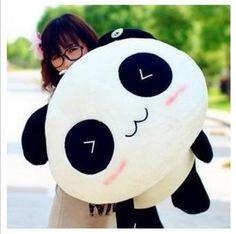 shakeball Home Sofa Decor Kawaii Cute Plush Doll Toy Animal Giant Panda Pillow Soft Stuffed Bolster Kid's Gifts size Panda Kawaii, Cute Panda, Kawaii Cute, Big Panda, Kawaii Shop, Panda Pillow, Plush Pillow, Bolster Pillow, Panda Lindo