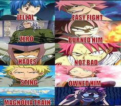 Thats Natsu for ya. Can take on any other wizard in Fiore and walk away. Put him on a train/boat.... he automatically loses