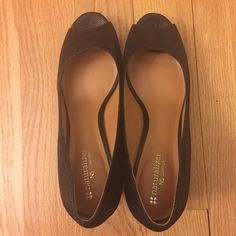 Naturalizer Wedge Espadrille peeptoe punp Worn only once, like new, heel height 2.75 inches Naturalizer Shoes Wedges