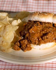 Classic Sloppy Joes.  The beef mixture can also be served over pasta