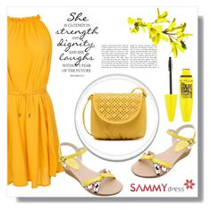 """""""Yellow Day"""" by goldenhour ❤ liked on Polyvore featuring Maybelline"""