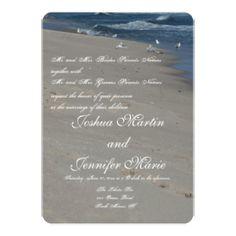Beach wedding invitations. http://www.zazzle.com/whitewavespaperie