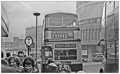Twilight in High Street Birmingham Bus Stop Design, Birmingham City Centre, Birmingham England, Wayfinding Signage, West Midlands, Yesterday And Today, Buses, Old Photos, Twilight