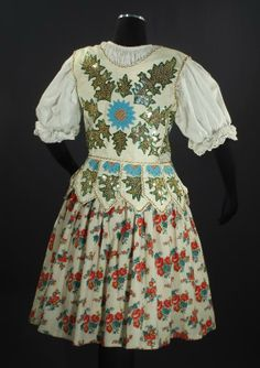 Handmade folk costume (probably a wedding vest) from southern Poland or northern Slovakia in the Orava region in the Carpathian Tatra Mountains, c. Tatra Mountains, Carpathian Mountains, Traditional Design, Traditional Outfits, Polish Embroidery, Wedding Vest, Ethnic Wedding, Bohemian Blouses, Costumes For Sale