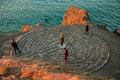 Original art for sale at UGallery.com | Labyrinth at Land's End by Mathew Lodge | photography | 36' h x 24' w