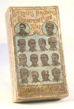 St. Louis Browns Champion Club Soap Box | Sports Memorabilia Museum