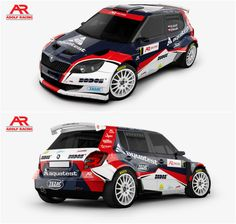 Design and wrap of Škoda Fabia S2000 for Adolf Racing team who will participate in Czech rally championship with Robert Adolf and Petr Novák