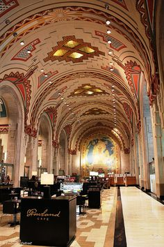 Guardian Building interior | Rowland Cafe | 500 Griswold St, Downtown Detroit.