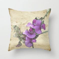 Sweet Pea throw pillow by Tint Press   Available here at Society 6: http://society6.com/egleason/Sweet-Pea-qHb_Pillow#25=193&18=126