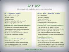 so & such in English