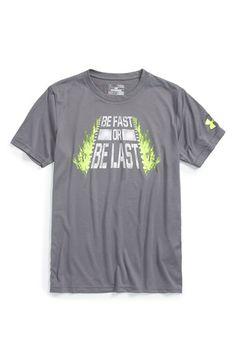Under Armour 'Be Fast or Be Last' HeatGear® T-Shirt (Big Boys)
