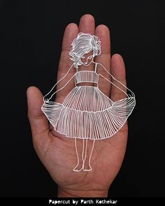Shipping Free - Papercut - Paper-cut - art - Papercutting - Papercraft - Paperart - Handmade - Handcut - Papercraft - Paper -  illustration
