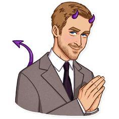 Набор стикеров для Telegram «Райан Гослинг» Emoji Man, What To Draw, Scrapbook, Drawings, Illustration, Emoticon, Eos, Fictional Characters, Engineering