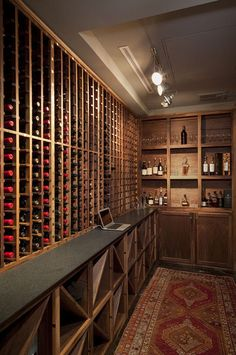 "8 Tips to Transform Your Basement Into a Wine Cellar  Enjoy a ""very good year"" as often as you like when you curate favorite vintages in your own basement wine cellar"