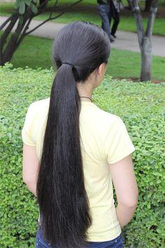 Long Ponytail Hairstyles, Long Hair Ponytail, Hair Ponytail Styles, Straight Hairstyles, Long Braids, Bun Hair, Long Silky Hair, Long Black Hair, Very Long Hair