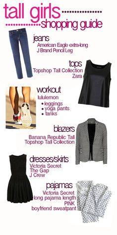 91a1b17f457 Tall Girl Shopping Guide. Where to shop for what! Clothing For Tall Women