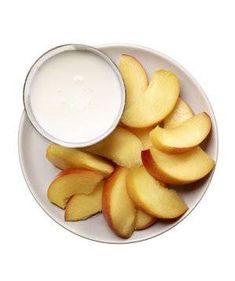 Peaches with kefir