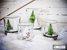 TheDIYDreamer.com Waterless Snow Globes  #winter #snow #snowglobe #snowglobes #globe #globes