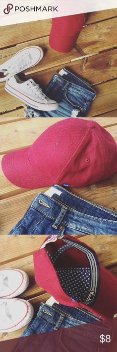 KEDS baseball cap KEDS wool baseball cap // burgundy // adjustable // 50% wool 50% polyester // only worn once to try it on Keds Accessories Hats