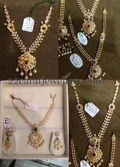 Jewellery Designs: Light Weight Uncut Sets by PSJ