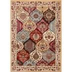 Barclay Wentworth Panel Ivory 7 ft. 10 in. x 9 ft. 10 in. Traditional Area Rug