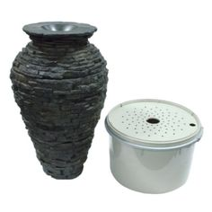 Aquascape 58064 Small Stacked Slate Urn Fountain Kit with Pump and Basin, 32 Inches Tall Aquascape http://www.amazon.com/dp/B004PZSC06/ref=cm_sw_r_pi_dp_9wuaxb1Z482H6