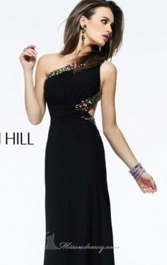 Matte Jersey Asymmetrical Gown by Sherri Hill 2970