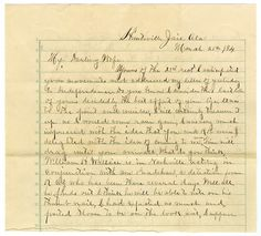 The Trial and Acquittal of Frank James....written by Frank James to his wife. Remainder on website.