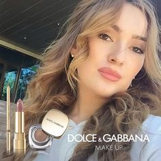 @afari_sharafutdinova's #DGbeauty look is feminine and chic. To get the perfect #DGWOMENLOVEMAKEUP look of this week, you just need Classic Cream Lipstick, The Lipliner and The Perfect Mono Eyeshadow. Share your most beautiful selfie with the hashtag to join the project.