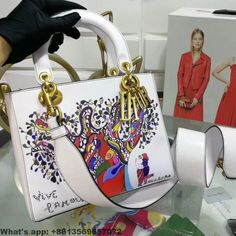 6eefe89c7389 Dior Supple Lady Dior in Calfskin With Textured Niki De Saint Phalle Print 2018  Christian Dior